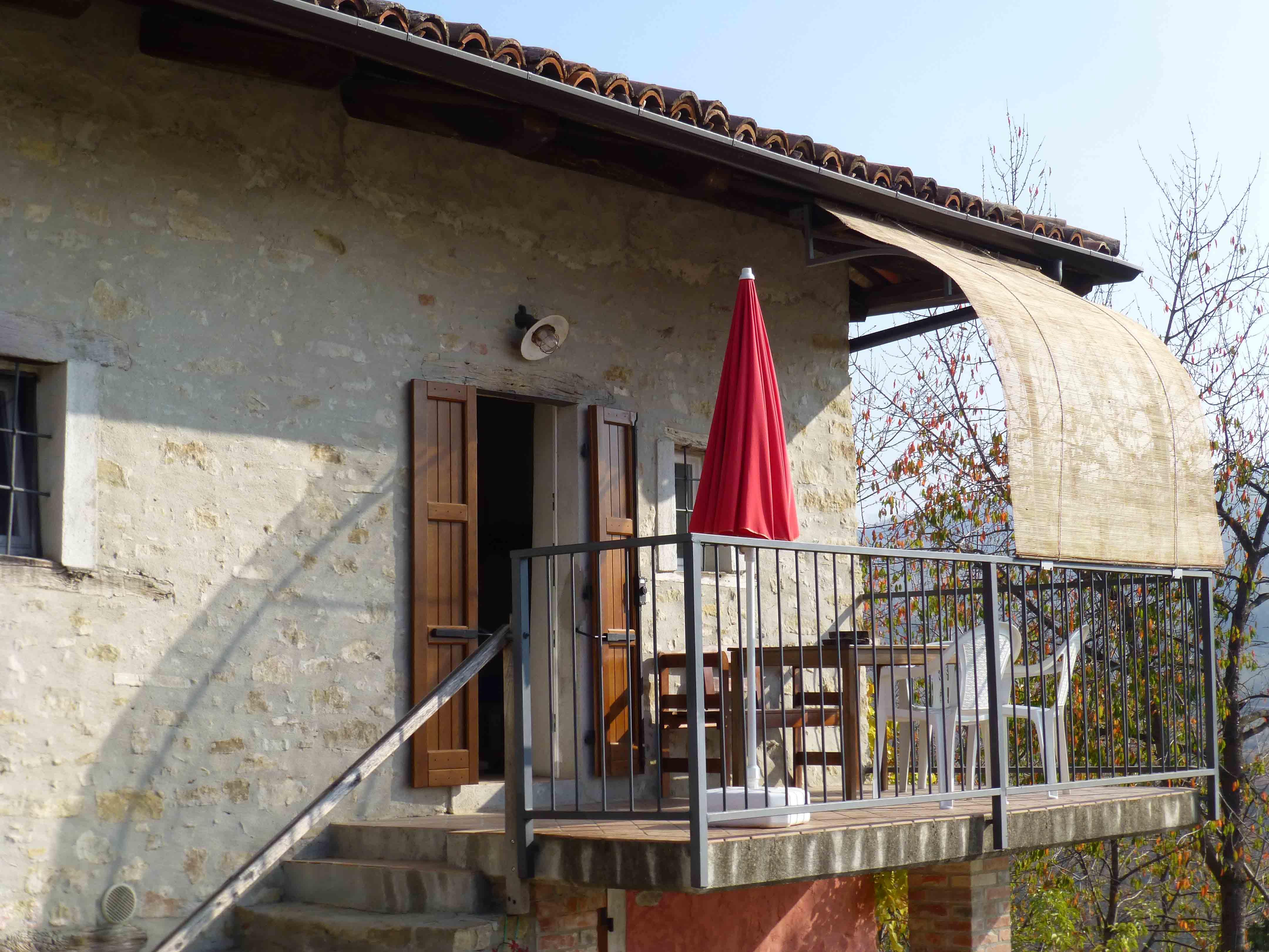 zonnescherm balkon La Casa Vecchia