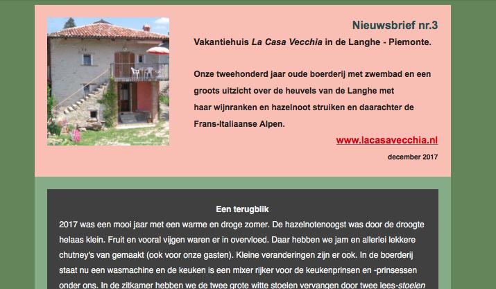 nieuwsbrief3 La Casa Vecchia