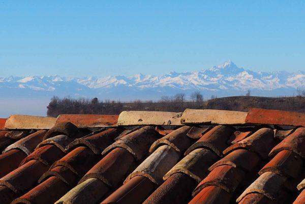 uitzicht winter op Monviso La Casa Vecchia